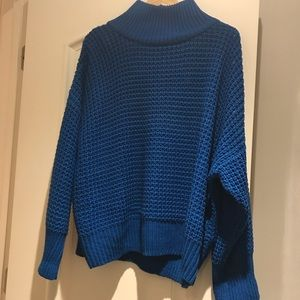 Topshop blue chunky knit sweater NWOT